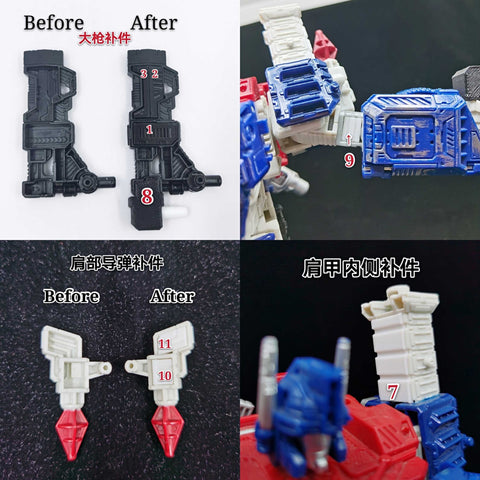 Ratchet Studio ROS-015W Gap Filler and Leg Extensions for WFC Siege Ultra Magnus (Original White Version)Upgrade Kit