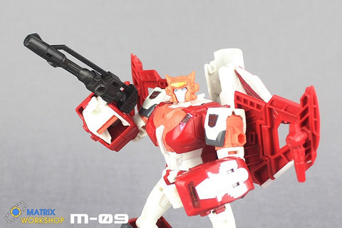 Matrix Workshop M-09A M09A Weapon Set for Female Autobots Combiner Orthia (Elita One, Moonracer, Lancer, Firestar, Greenlight ) Upgrade Kit