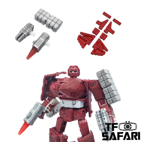 【Incoming】Shockwave Lab SL-105 SL105 the Weapon Set & Gap fillers for WFC Kingdom Deluxe Warpath Upgrade Kit