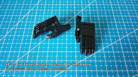 Shockwave Lab SL-22 SL22 Posable Hands for Titans Return Overlord / Black Shadow ( Voyage Class) Upgrade Kit