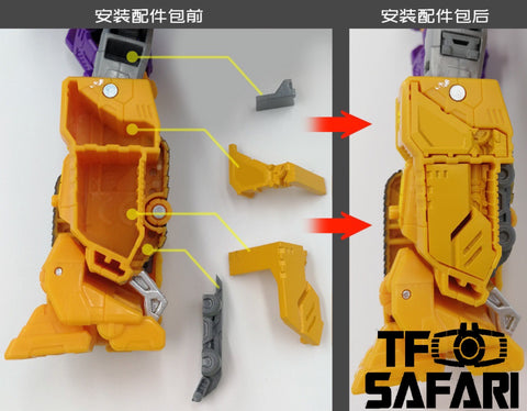 【Pre-Order】GX-05 Uptrade Kit for WFC Siege Impactor ( Upgrade Kit+ Gap Fillers)