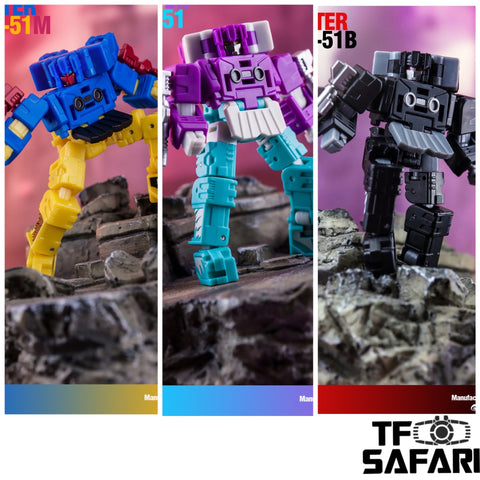 Dr.Wu DW-P51 / P51M / P51B Chatter 3 in 1 set (Beastbox and Squawktalk, 2 in 1 Mini-Cassette Warriors ) for WFC Siege Soundwave Dr Wu Upgrade Kit