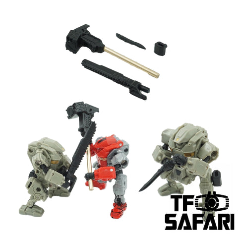 【Pre-Order】Emonster EM-05 4 in 1 Melee Weapon Set for Diaclone Power Suit Diaclone Upgrade Kit