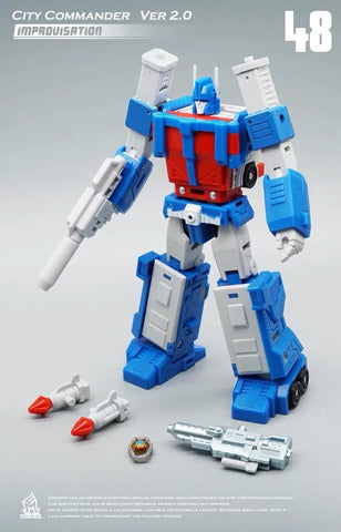 MFT MechFansToys MF-48 MF48 City Commander (Ultra Magnus Version 2.0)  Mech Fans Toys 13cm/ 5.1""
