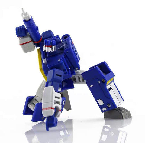 Pocket Toys TS04 TS-04 Tuner (Soundwave, KO DX9 X33 Sonic wizard, 3 Cassette Warriors) PocketToys 10cm / 4""
