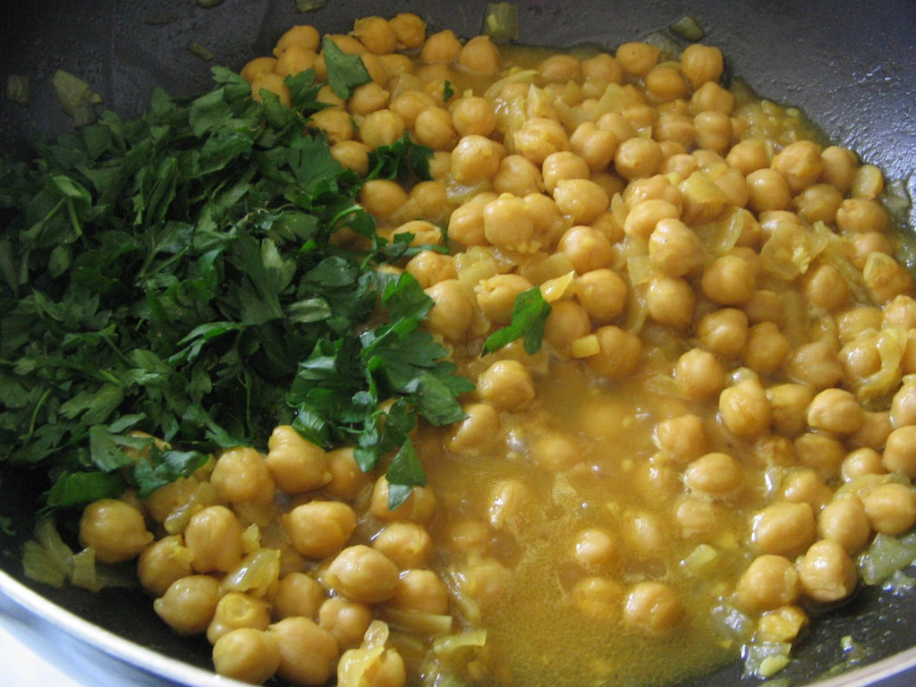 Moroccan  Recipe - Chickpeas with Turmeric