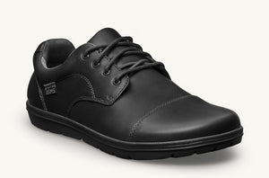 Black Leather Office Shoe