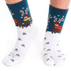 Reindeer and snow Tabi Socks