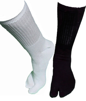 White and Black Tall Tabi Socks