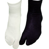 White and Black Ankle Tabi Socks