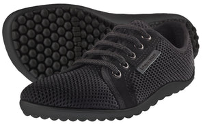 Leguano Active Minimal Athletic Shoe - Black w/Black Sole