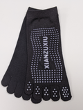 Black 5 Toe Socks Non-Slip