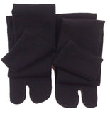 Pair Black Over the Knee Tabi Socks folded