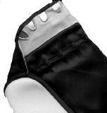 Traditional Black Cotton Tabi Socks showing Fastener detail