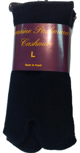Black Cashmere Tabi Socks