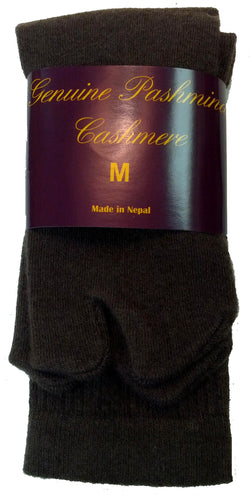 Dark Brown Cashmere Tabi Socks
