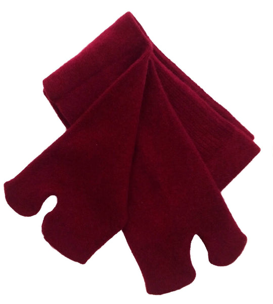 Dark Red Cashmere Tabi Socks