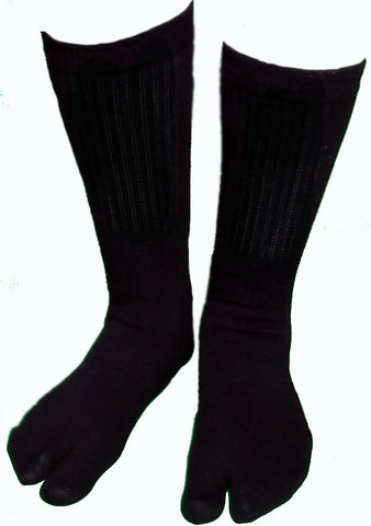 Tall Black Cotton/Nylon Tabi Socks