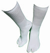 Tall White Cotton/Nylon Tabi Socks