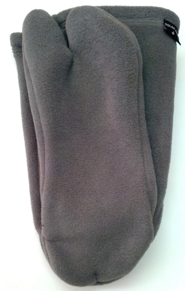 Grey Polar Fleece Tabi