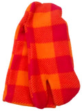 Orange Plaid Polar Fleece Tabi Socks