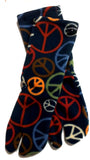 Peace Signs Fleece Tabi Socks