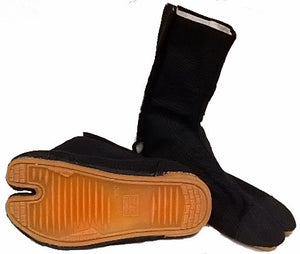 Rikio Black Jikatabi with stitched soles
