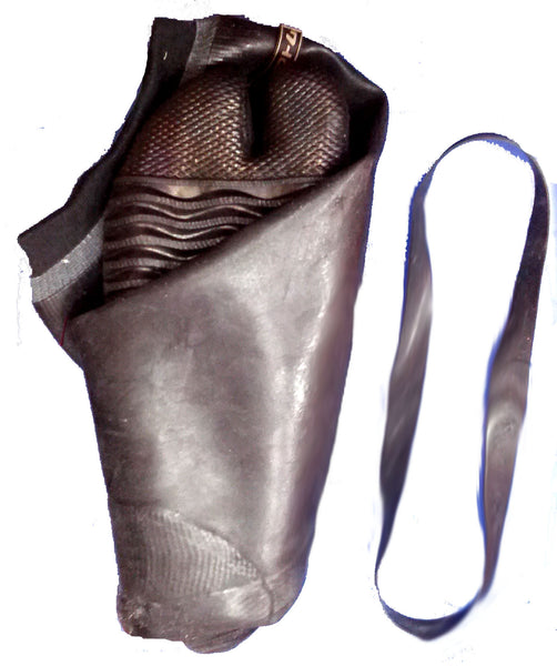 Tall Rubber Tabi Boot with Elastic loop