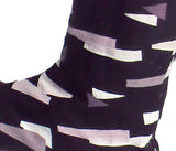 Shatter Pattern Jikatabi - Tabi Boots Pattern Detail Black with White and Beige Shapes