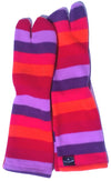Striped Canadian Polar Fleece Tabi Socks