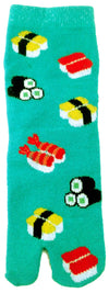 Children-Tabi-Sushi-on-a-Turquoise-Background