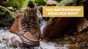 Waterproof Leather Boulder Boots in a stream
