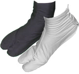Traditional Japanese Style Black and White Cotton Tabi Socks