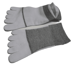 5-Toe Ankle Socks With Heel