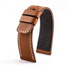 ABP Paris Calf Leather Brown Cognac Apple Watch Strap