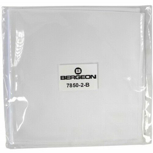 Bergeon 7850-2-B White Microfibre Cloth 250mm x 250mm