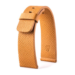 ABP Paris Caramel brown Grained Calf Leather Apple Watch Strap