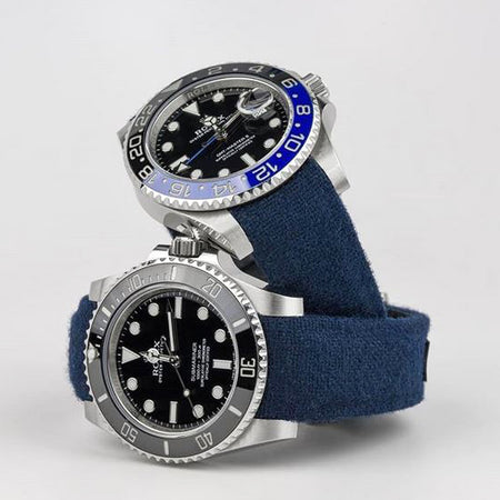 Everest Curved End Nylon Strap in Blue with Tang Buckle for Rolex Sports Models