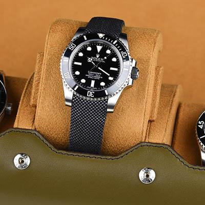 Everest Watch Roll for 3 Watches Olive Green