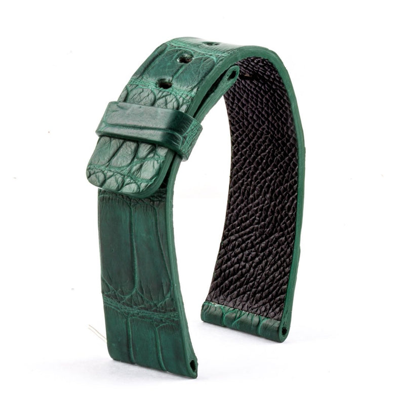 ABP Paris Green Alligator Leather Apple Watch Strap