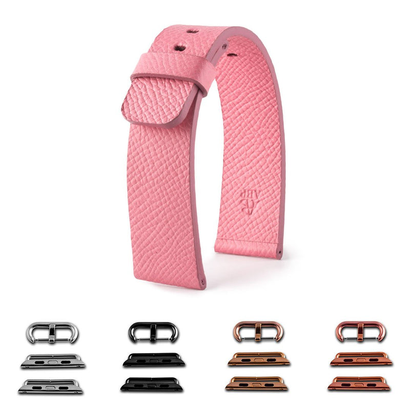 ABP Paris Pink Grained Calf Leather Apple Watch Strap