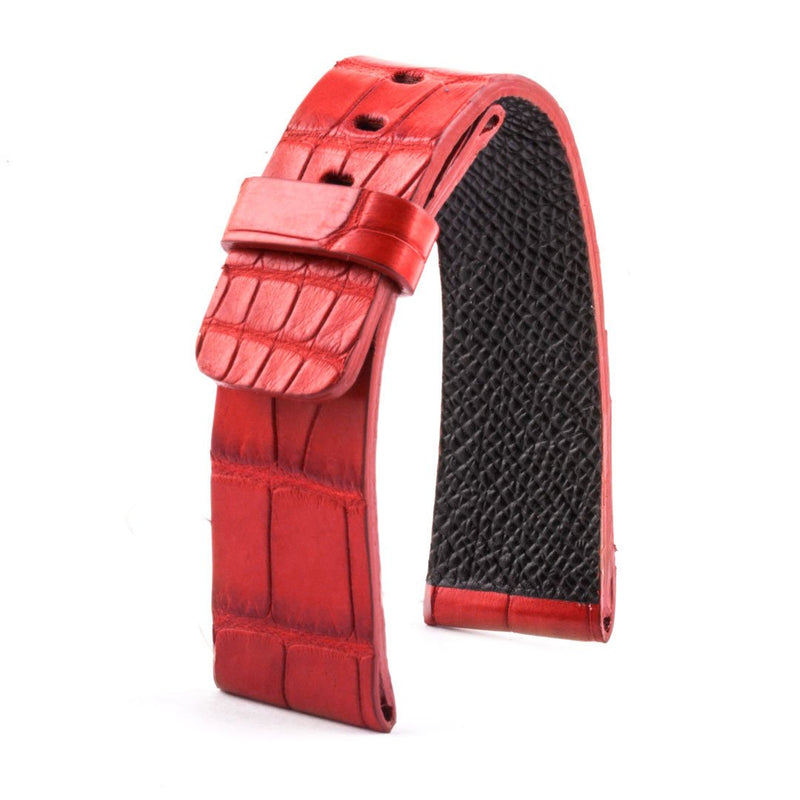 ABP Paris Red Alligator Leather Apple Watch Strap