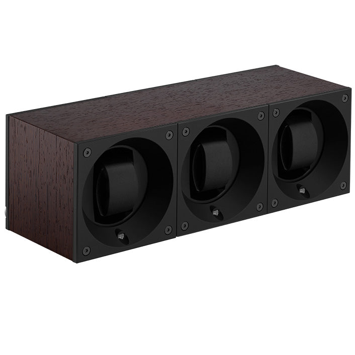 SwissKubik Masterbox Triple Watch Winder in Natural Wenge Wood