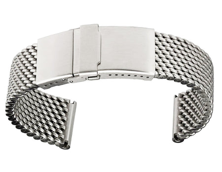 Staib Milanaise Mesh Polished Watch Bracelet with Folding Buckle 20mm
