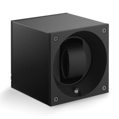 SwissKubik Masterbox Watch Winder in Black Anodized Aluminium