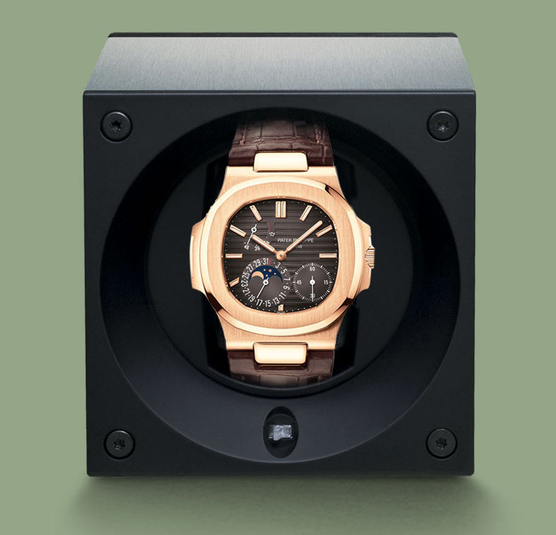 SwissKubik Masterbox Watch Winder in Natural Wenge Wood