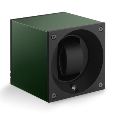 SwissKubik Masterbox Watch Winder in Dark Green Anodized Aluminium
