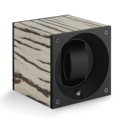 SwissKubik Masterbox Watch Winder in Matt Zebra Wood