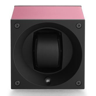 SwissKubik Masterbox Watch Winder in Pink Anodized Aluminium