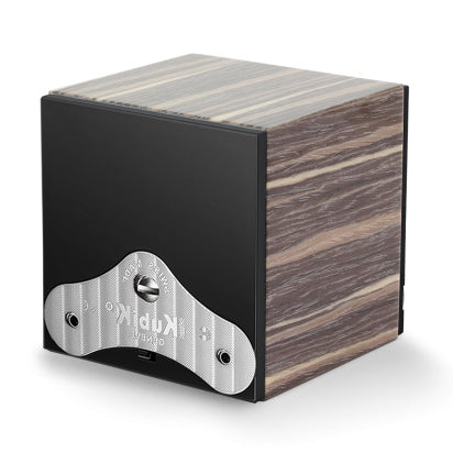 SwissKubik Masterbox Watch Winder in Shiny Varnished Grey Ash Wood